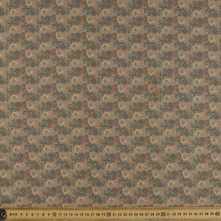 Fallen Paisley Printed 142 cm Sateen Fabric