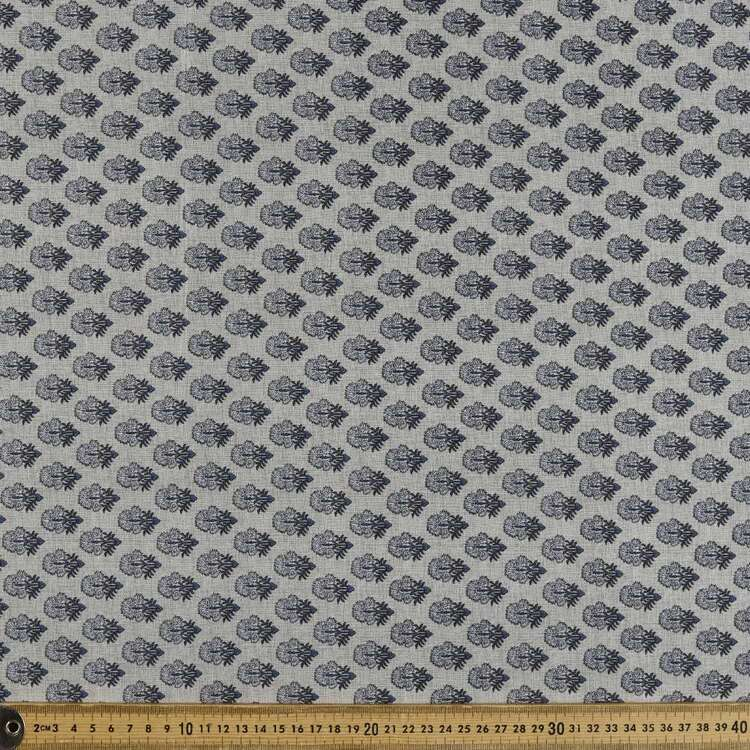 Stamp Printed 142 cm Sateen Fabric