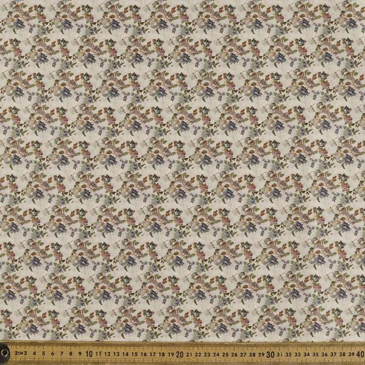 Vintage Treasure Printed 142 cm Sateen Fabric
