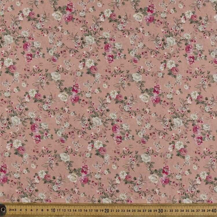 Sweet Rose Printed 142 cm Sateen Fabric