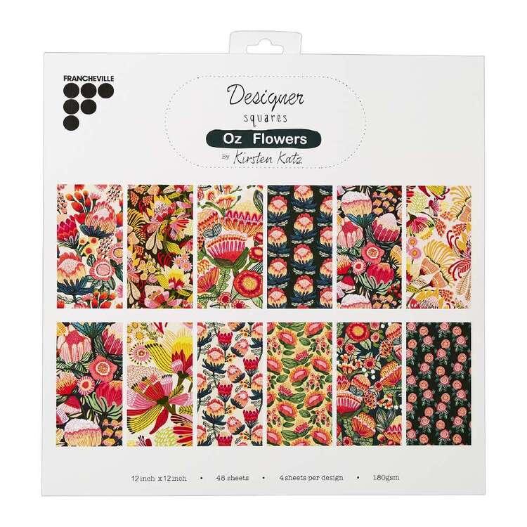 Francheville Kirsten Katz Oz Flowers 12 x 12 in Paper Pad