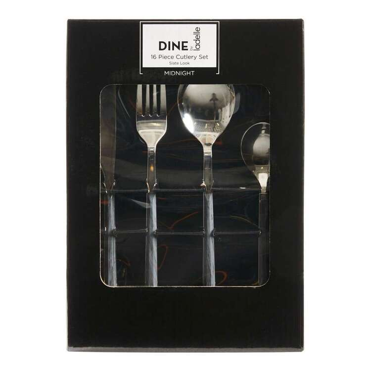 Dine By Ladelle Midnight 16 Piece Cutlery Set