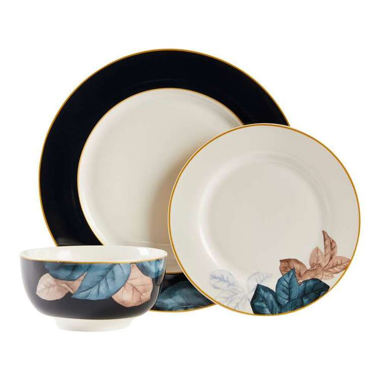 Dine By Ladelle Midnight Floral 12 Piece Dinner Set