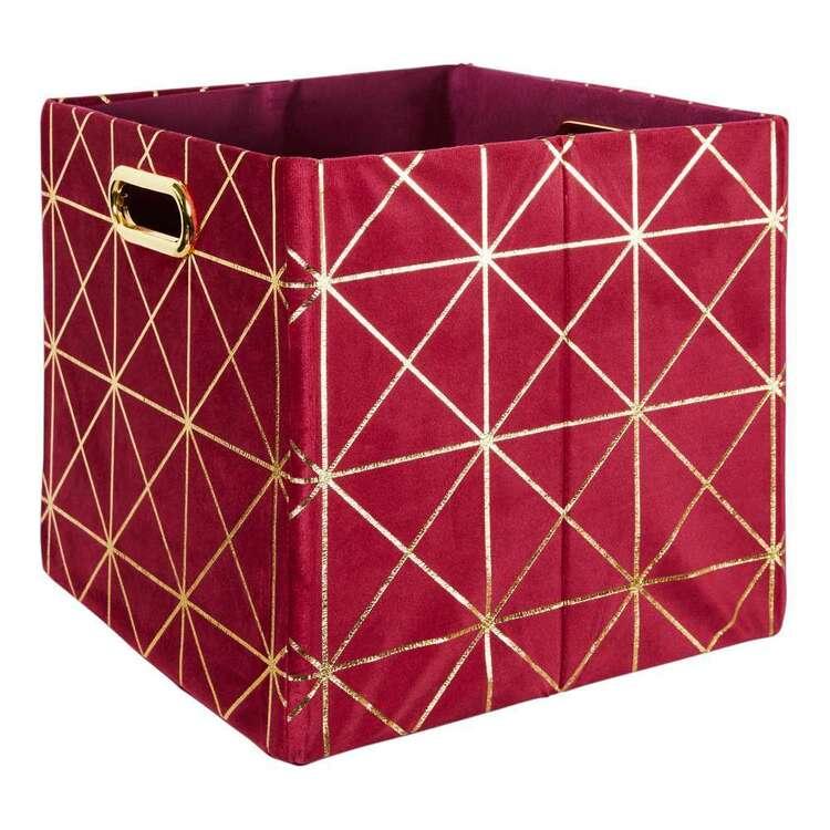 Living Space Velluto Velvet Square Cube