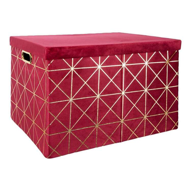Living Space Velluto Velvet Large Box With Lid