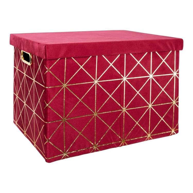 Living Space Velluto Velvet Medium Box With Lid