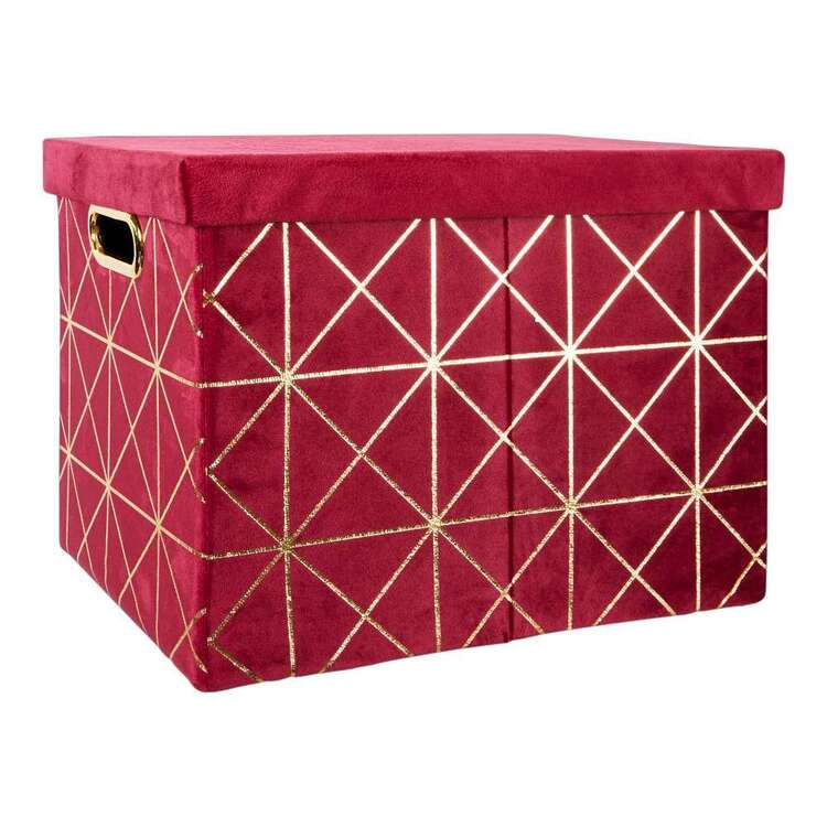 Living Space Velluto Velvet Small Box With Lid
