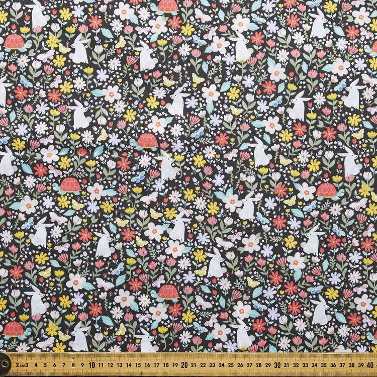 Country Garden TC Where The Bunny Printed 112 c m Poly Cotton Fabric