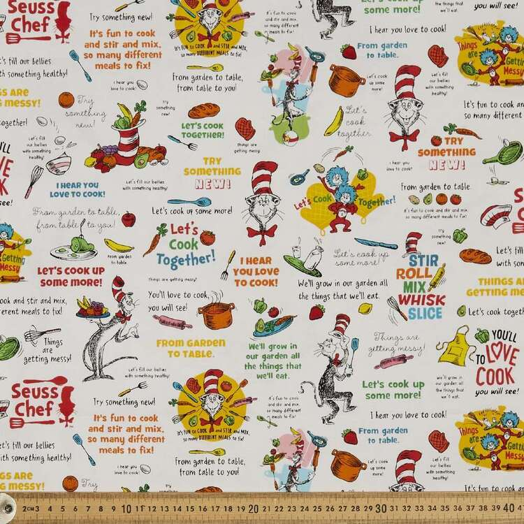 Dr Seuss Chef Love To Cook Cotton Fabric