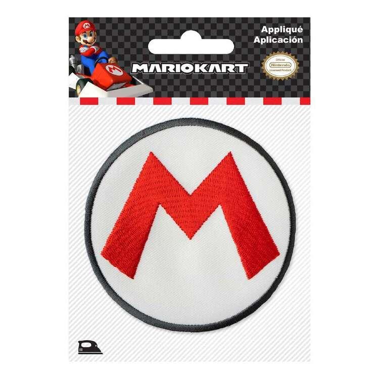 Nintendo Applique Mario Kart Logo Motif
