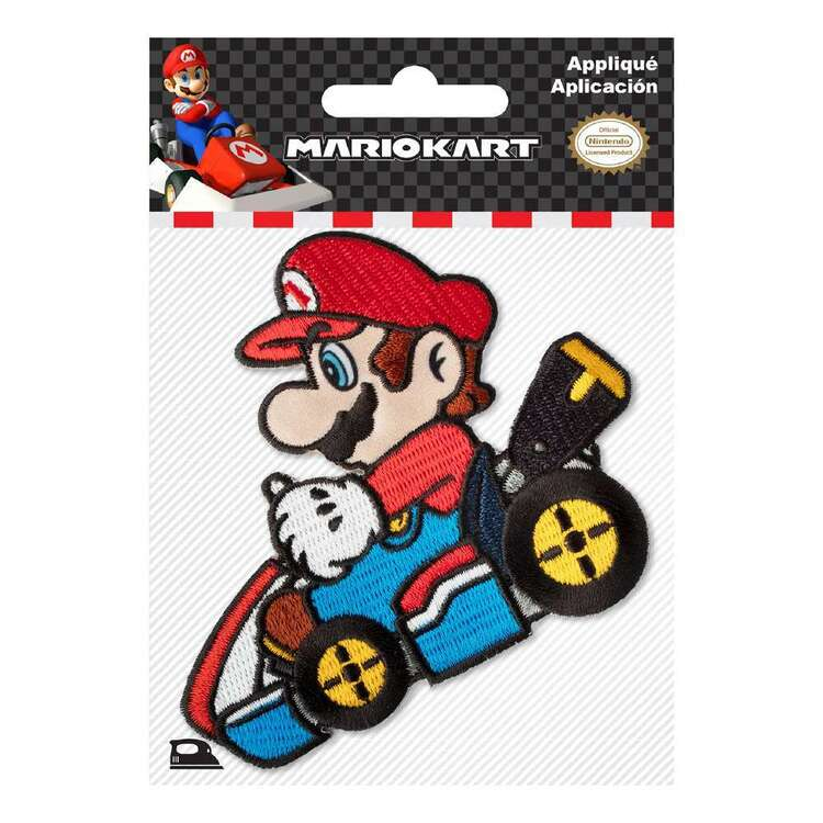 Nintendo Applique Small Mario Kart Motif