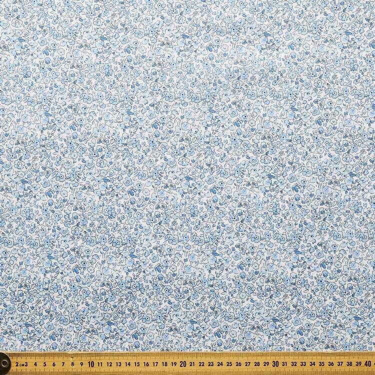 Country Garden TC Blue Blossom Printed 112 c m Poly Cotton Fabric