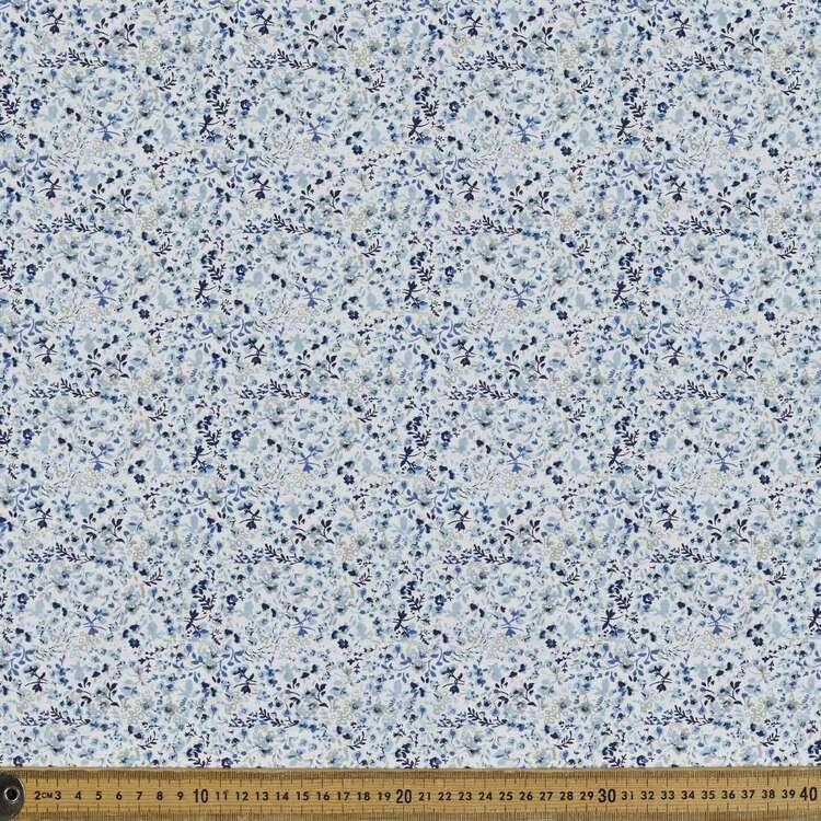 Country Garden TC China Blue Printed 112 cm Polycotton Fabric