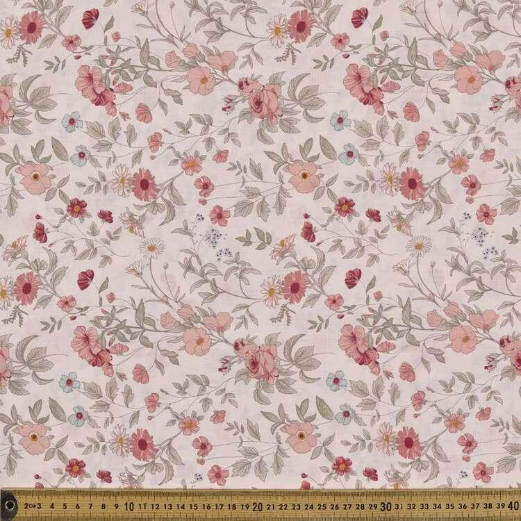 Country Garden TC Hello Daisy Printed 112 cm Polycotton Fabric