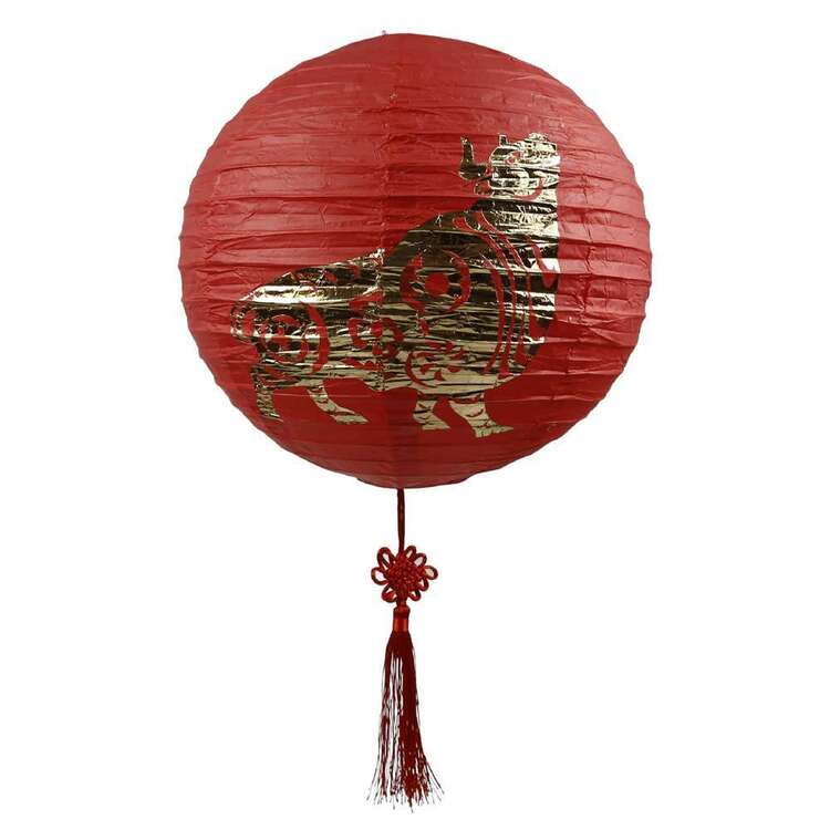 Party Creator Chinese New Year Paper Lantern With Gold Print