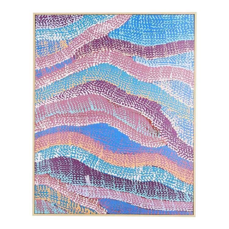Warlu Water Dreaming Blue Framed Print