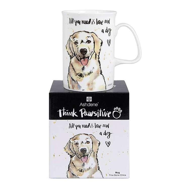 Ashdene Think Pawsitive Golden Retriever Mug