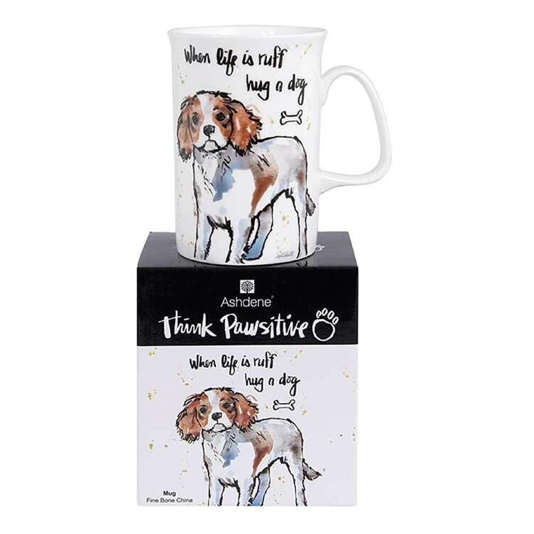 Ashdene Think Pawsitive Cavalier Mug