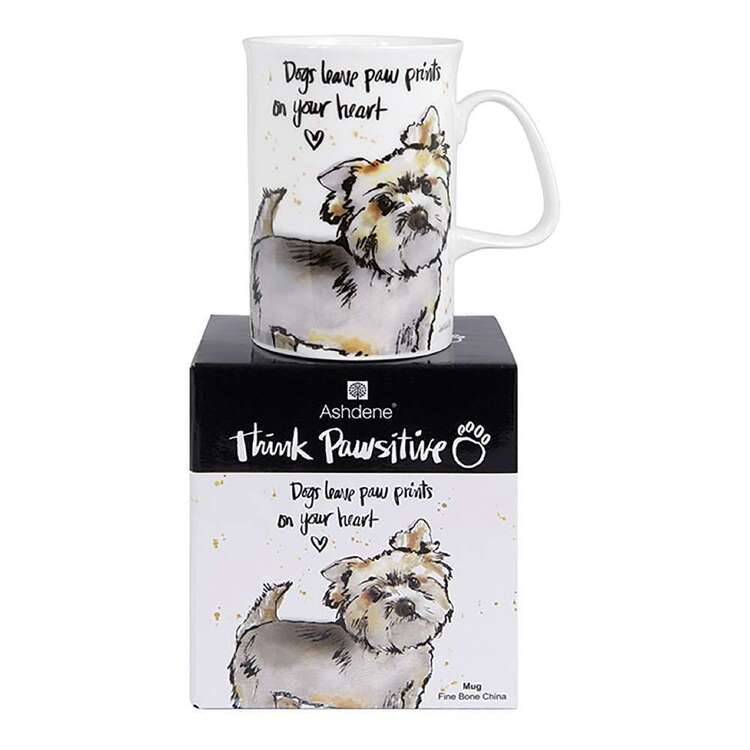 Ashdene Think Pawsitive Yorkshire Terrier Mug