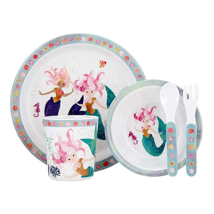 Ashdene Mermaids Kids 5 Piece Dinner Set