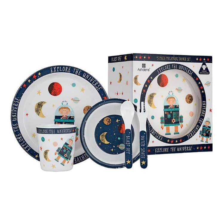 Ashdene Blast Off 5 Piece Kids Dinner Set