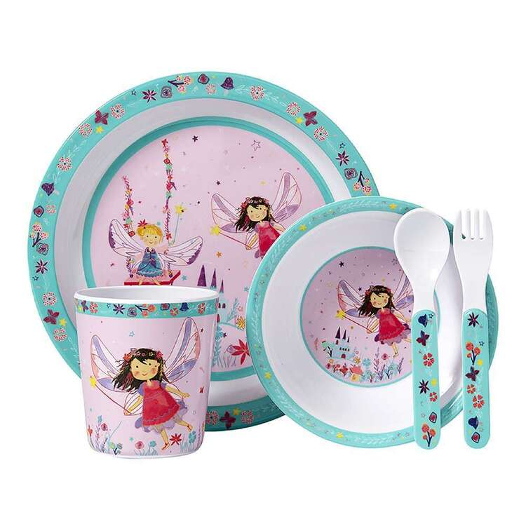Ashdene Fairy Garden Kids 5 Piece Dinner Set