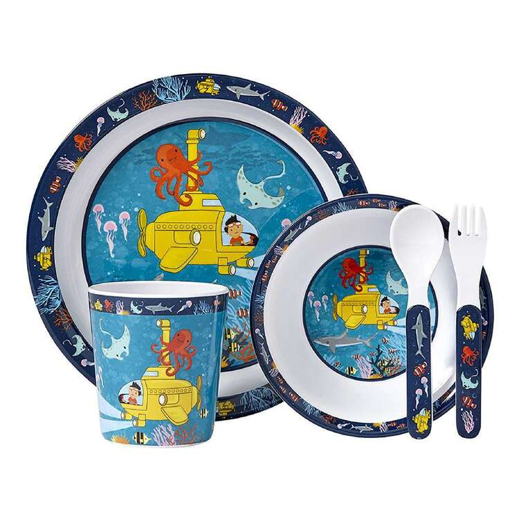 Ashdene Ocean Explorer Kids 5 Piece Dinner Set
