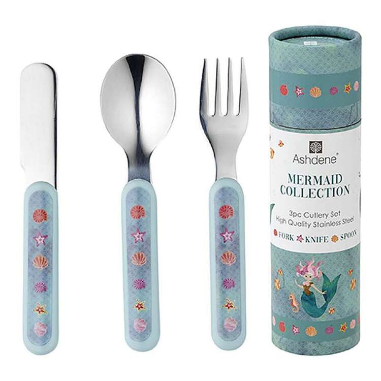 Ashdene Mermaids 3 Piece Cutlery Set