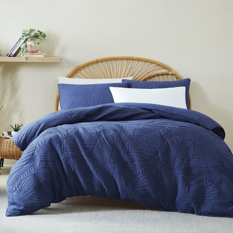KOO Byron Leaf Quilted Quilt Cover Set