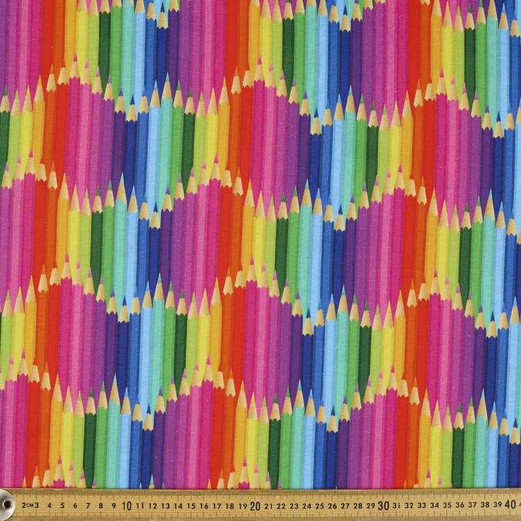 Pencil Rows Cotton Fabric