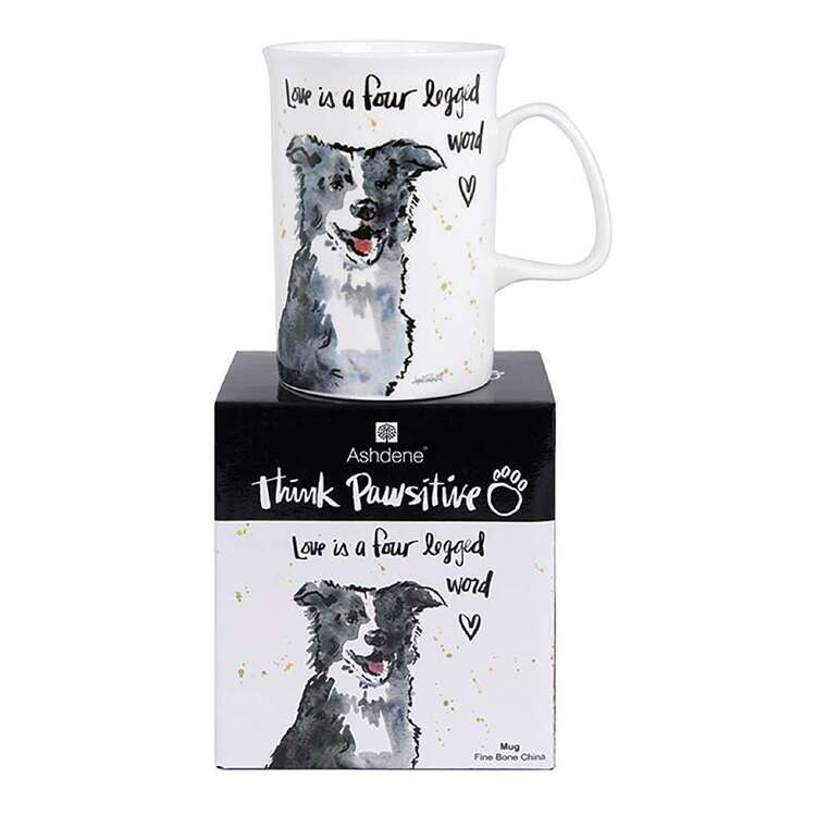 Ashdene Think Pawsitive Border Collie Mug