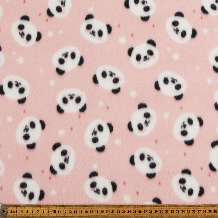 Panda Face Printed 148 cm Peak Polar Fleece Fabric