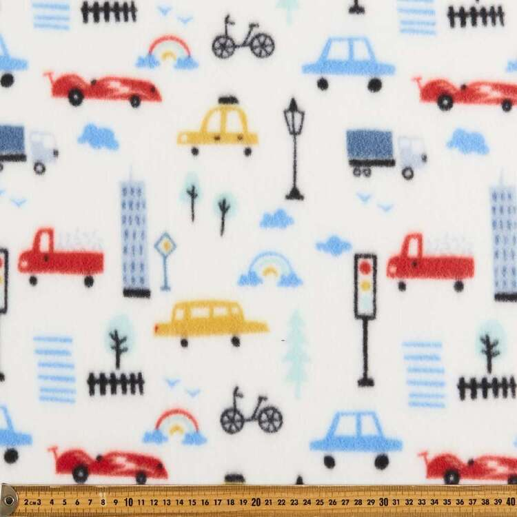 Traffic Printed 148 cm Peak Polar Fleece Fabric