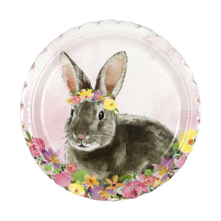 Easter Bunny Paper Plate 8 Pack