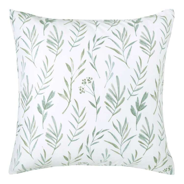Ombre Home Country Living Botanic Leaf Euro Pillowcase