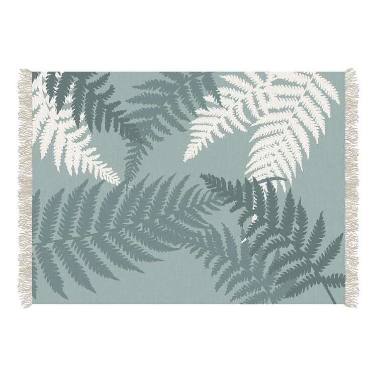 Ombre Home Country Living Fern Printed Cotton Rug
