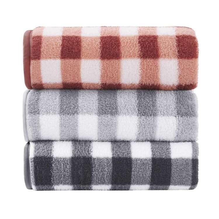 KOO Plaid Sherpa Blanket