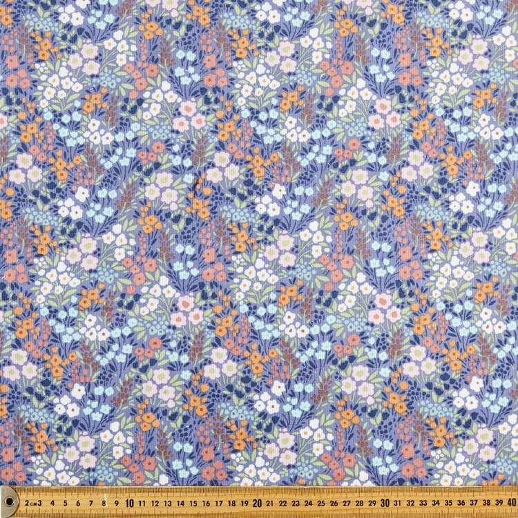 Ashley Printed 112 cm Pinwale Cord Fabric