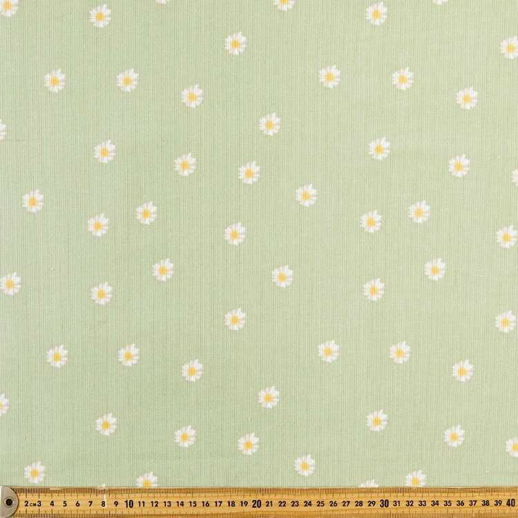 Random Daisies Printed 112 cm Pinwale Cord Fabric
