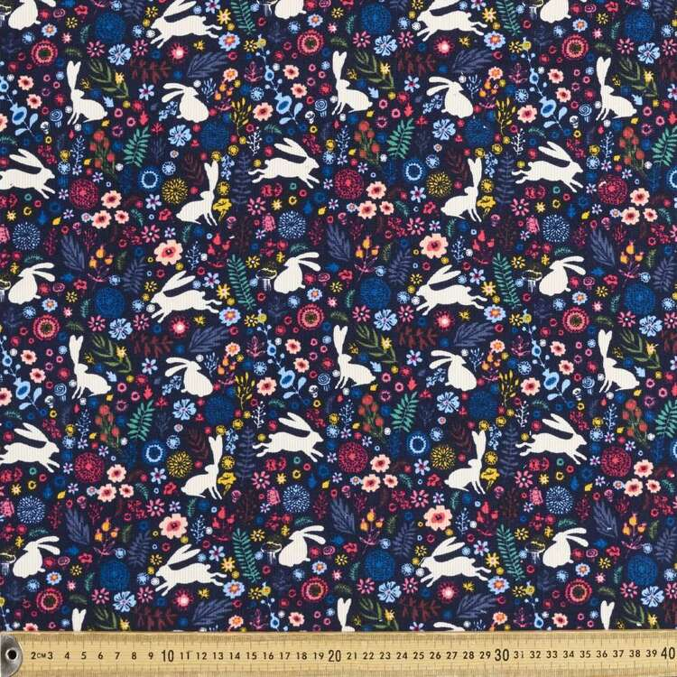 Darcy Printed 112 cm Pinwale Cord Fabric