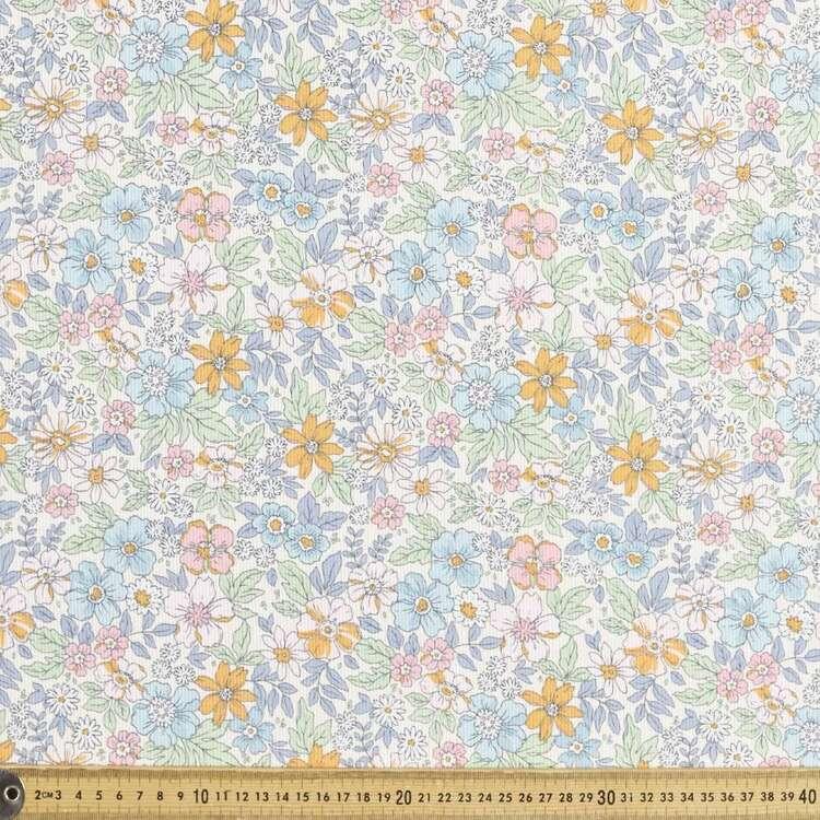 Wild Bloom Printed 112 cm Pinwale Cord Fabric