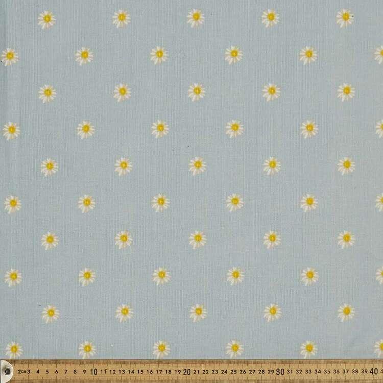 Simple Daisies 112 cm Cotton Pinwale Corduroy Fabric