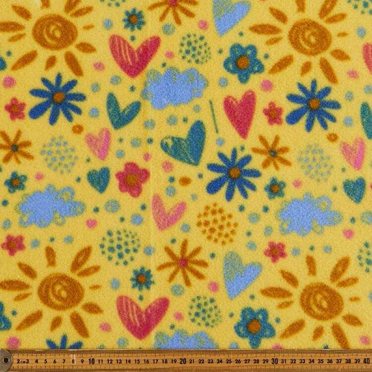 Love Sunshine Printed 148 cm Husky Polar Fleece Fabric