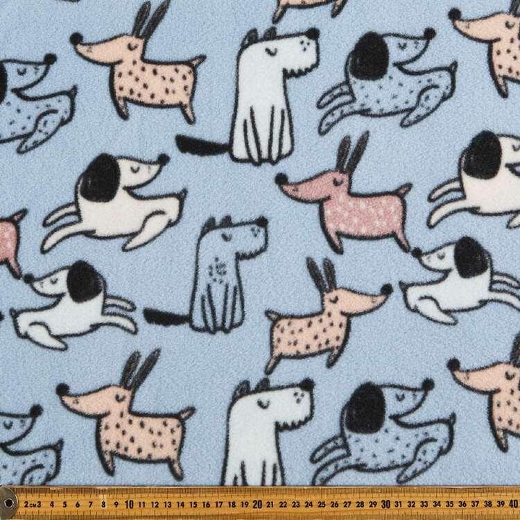 Doggos Printed 148 cm Husky Polar Fleece Fabric