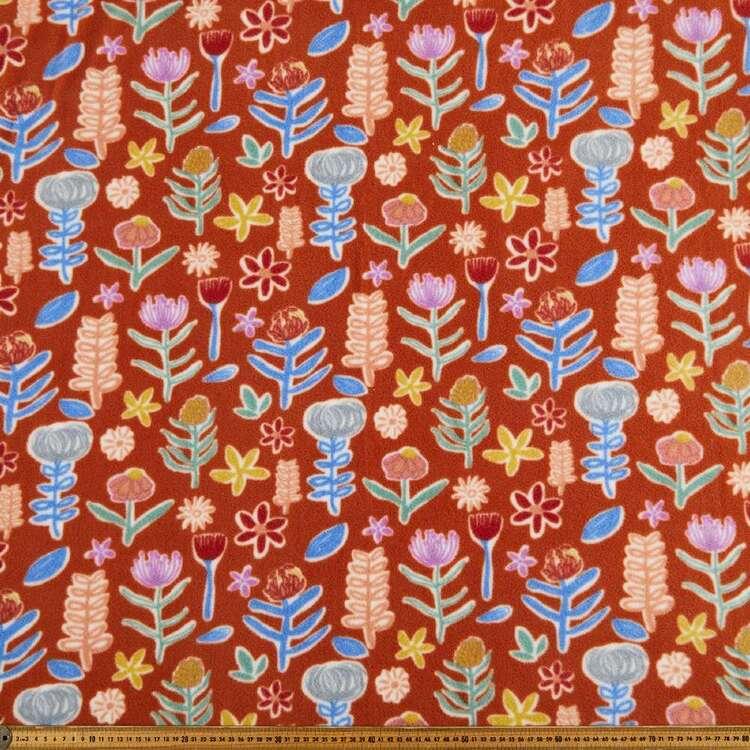 Floral Garden Printed 148 cm Husky Polar Fleece Fabric