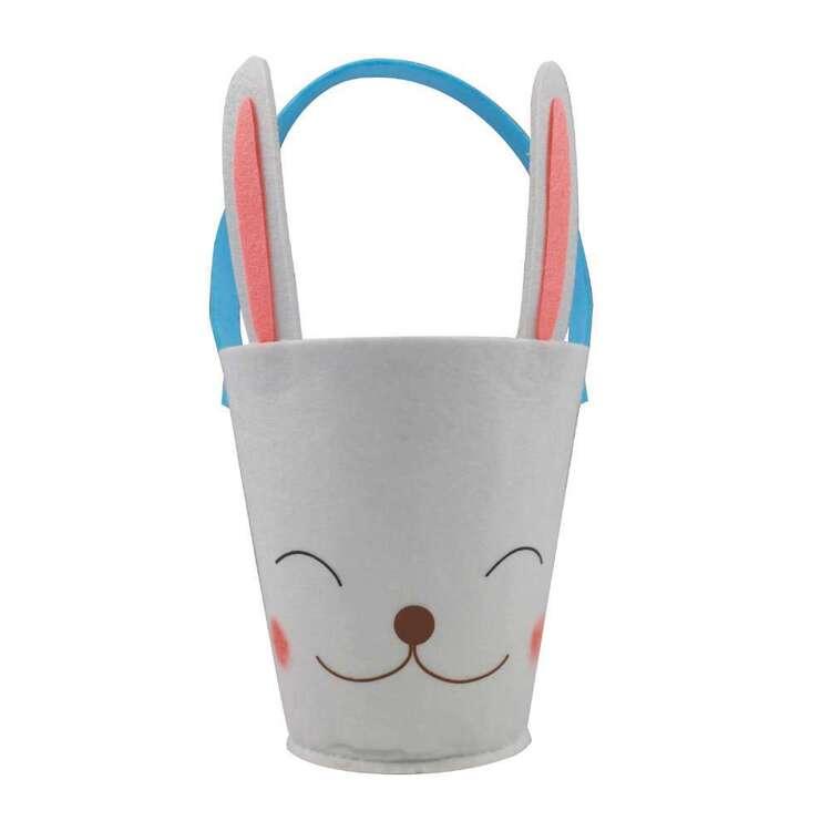 Easter Smiling Bunny Felt Bucket