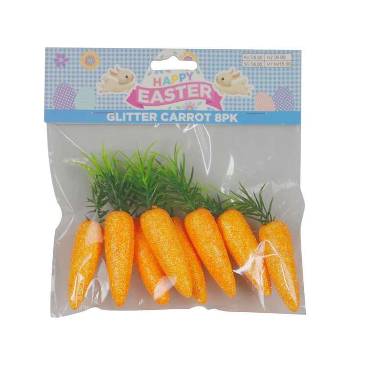 Glitter Carrots 8 Pack