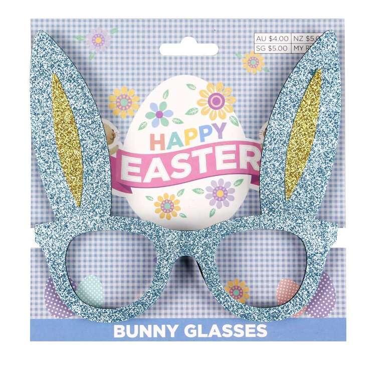Blue Easter Bunny Glasses