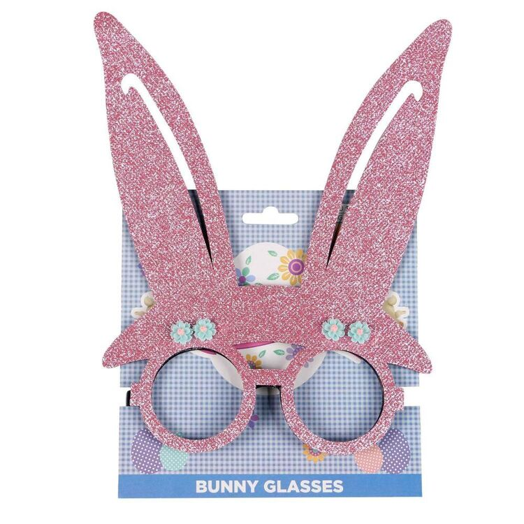 Pink Easter Bunny Glasses