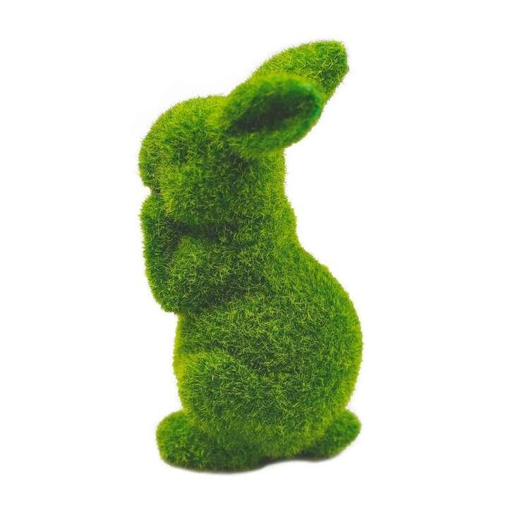 Faux Grass Rabbit 16 cm